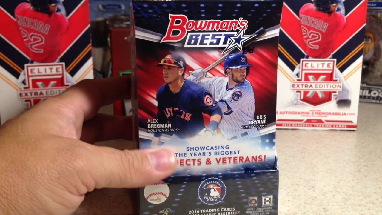 Opening 2016 Bowmans Best Baseball Cards Hobby Box 2
