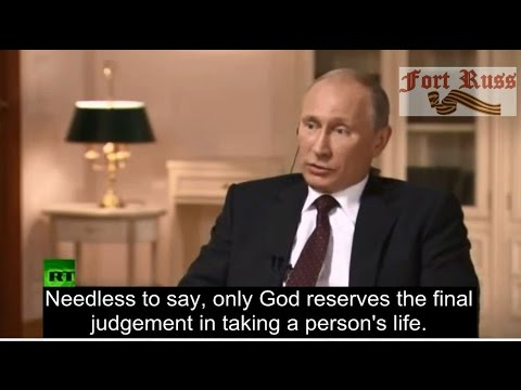 What does Putin think of the Death Penalty in the US?