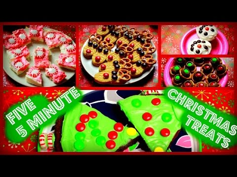 FIVE 5 MINUTE CHRISTMAS TREATS DIY