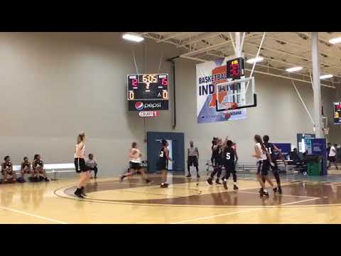 Indy Magic (Andrus Blue Star) with a win over Nike LGR (White), 56-42 - Mid America Challenge