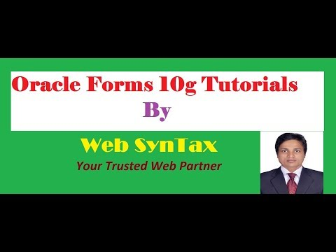 Oracle Forms Tutorial How to convert content canvases item to tab canvas page's