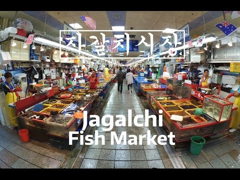 KOREA ATTRACTIONS: Jagalchi Fish Market Walking Tour (1080p60)