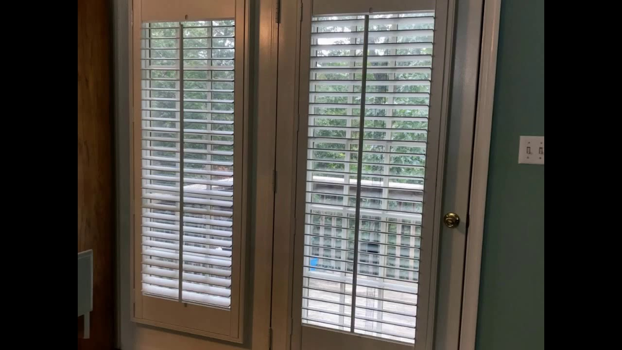 Budget Blinds Of Martinsburg. French Door Plantation Shutters.