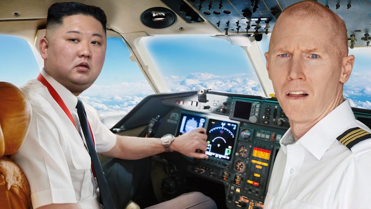 Kim Jong Un Flies Plane | North KoreaWood vs Reality