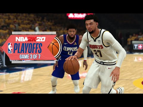 NBA 2020 Virtual Playoffs - Clippers Vs Nuggets Round 2 Game 3 - Los Angeles Vs Denver (NBA 2K)