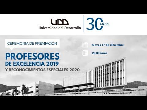 Ceremonia de Premiación Profesores de Excelencia 2019 y Reconocimientos Especiales 2020 - Sede Santiago