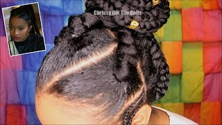 💜 Grownish Inspired QUICK Braided Updo Pre Stretched Braiding Hair 💜 Pheme Hair Care