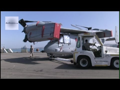 USMC Loads MV-22B Ospreys for Shipment to Okinawa, Japan