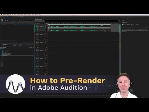 How To Pre Render The Effects Rack In Adobe Audition