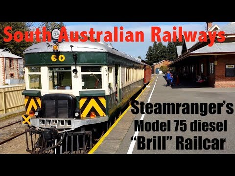 "Steamranger's ""Brill"" diesel Railcar Goolwa to Victor Harbor"