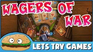 WAGERS OF WAR 🎴 The Card Game 'War', But Cooler 🍔 Lets Try Games 🍔