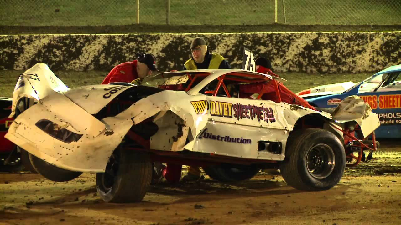 Huge Super Sedan Crash Latrobe Speedway Tasmania Australia