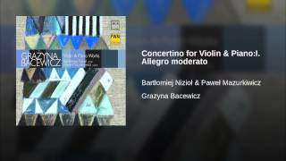 Concertino for Violin & Piano:I. Allegro moderato