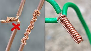 How to Twist Electric Wire Together & Useful Tricks | Thaitrick