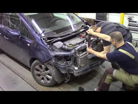 Не большой ремонт Опеля. Body repair after an accident.