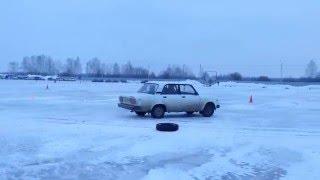 Малышка Жи. Квалификация. 1 этап Drift Battle Ice edition