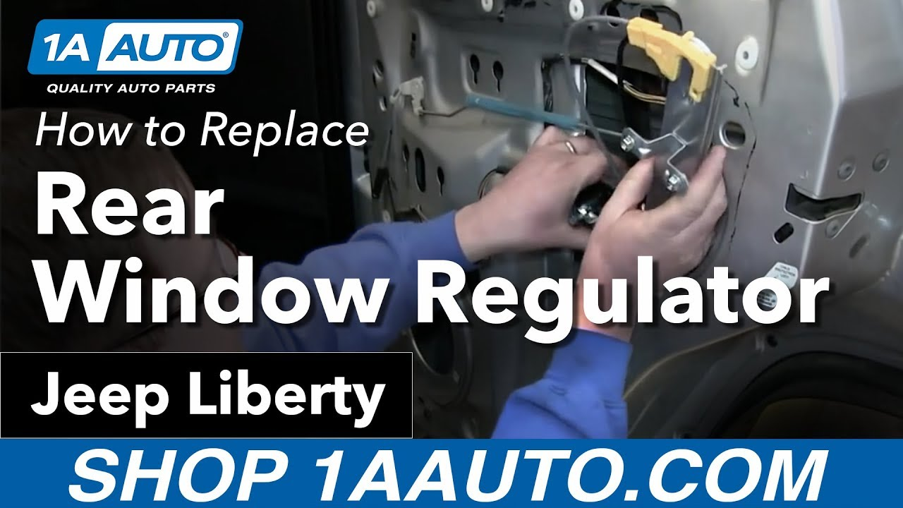 hight resolution of how to install replace rear power window regulator 2002 06 jeep liberty