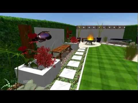 Contemporary garden design - PMN Landscape Designs Ltd ... on Modern Back Garden Ideas id=57356
