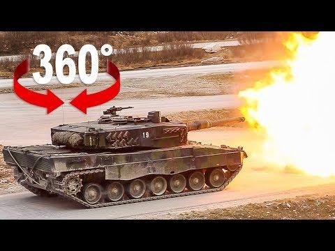 Fahre im Kampfpanzer Leopard I 360-Grad-Video