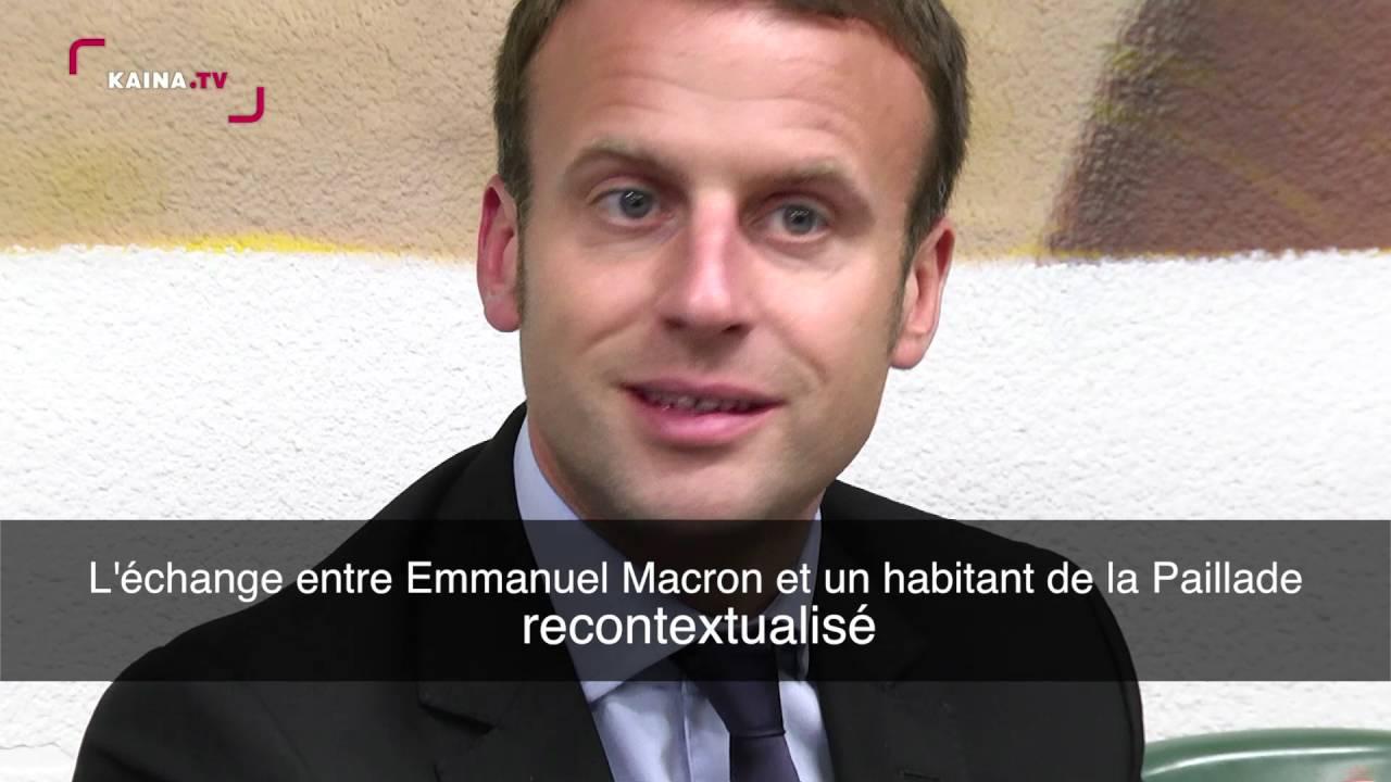 Vif échange entre Emmanuel Macron et un habitant du quartier parlant de salafisme : la vidéo