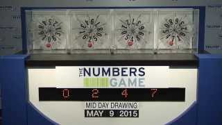 Midday Numbers Game Drawing: Saturday, May 9, 2015