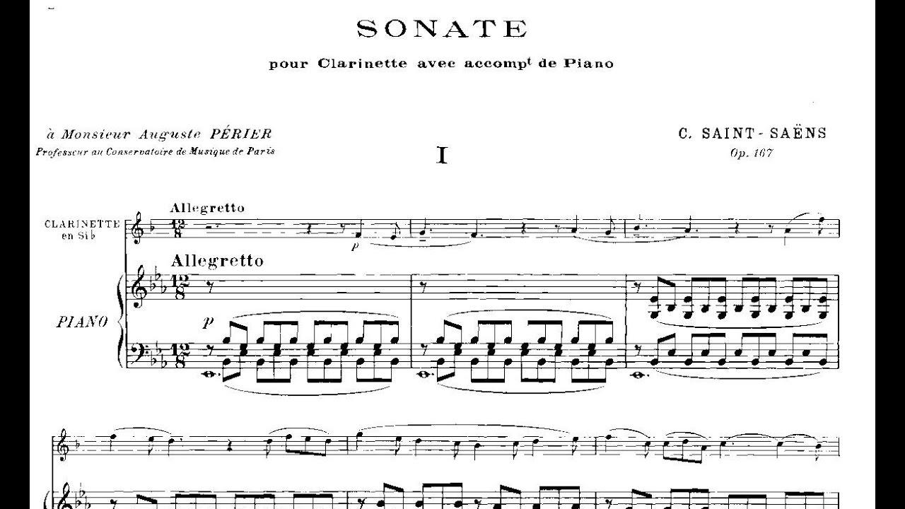 Camille Saint-Saëns: Clarinet Sonata Op  167 (1921)