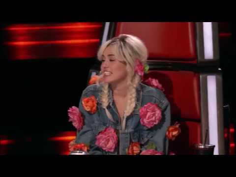 Miley Cyrus Best moment The voice US 2016 part 1