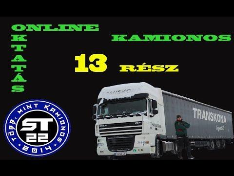 57.A kamionos.Online sofőr betanítás  kezdőknek.13.rész.