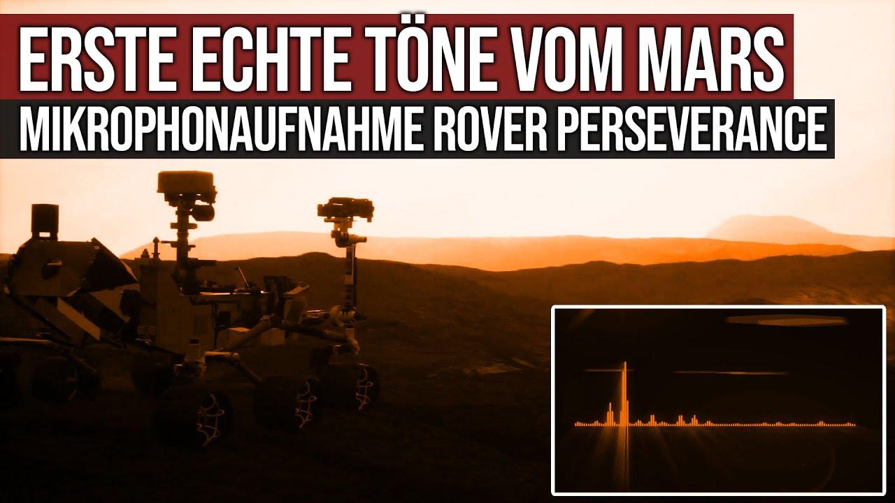 Erste echte Töne vom Mars - Mikrofonaufnahme Rover Perseverance