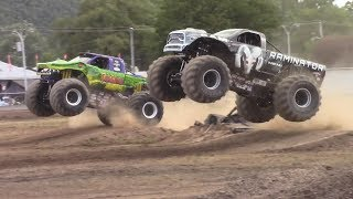 Драг-рейсинг на Monster Trucks с трамплинами