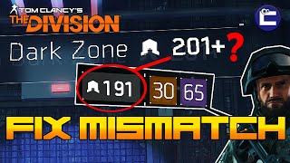 how to fix dark zone gear level mismatch in the division