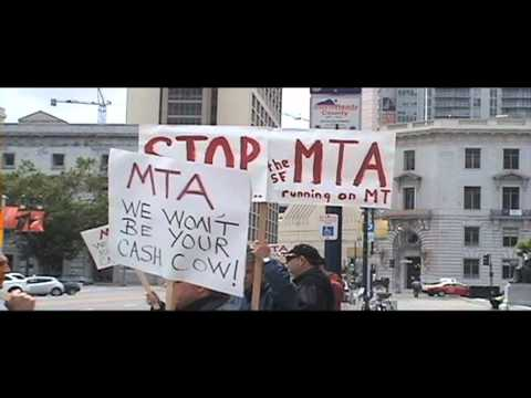 Stop The SFMTA Protest By SF Cab Drivers.mov