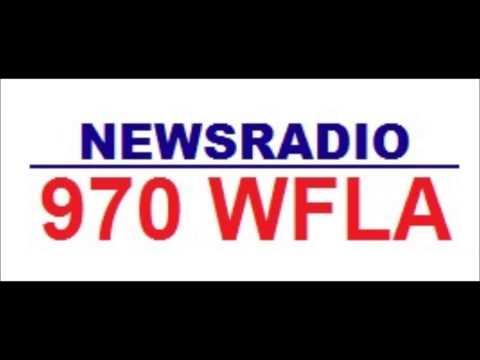 WFLA-AM 970 kHz Tampa Bay, FL 1989 Legal ID
