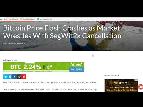 Bitcoin Segwit 2X Hard Fork Cancelled  - $110 Reinvest On BitConnect