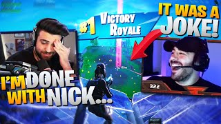 I'm NEVER Playing With NICKMERCS again.. *He BETRAYED Me!* (Fortnite Battle Royale)
