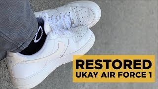 UKAY-UKAY AIR FORCE 1 COMPLETED RESTORED!!! (+YEEZY 700 V2 STATIC UNBOXING IN JAPAN)
