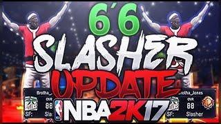 New 6'6 SPEEDBOOSTING SLASHER BUILD ATTRIBUTE UPDATE - NBA 2K17 (OVERPOWERED)