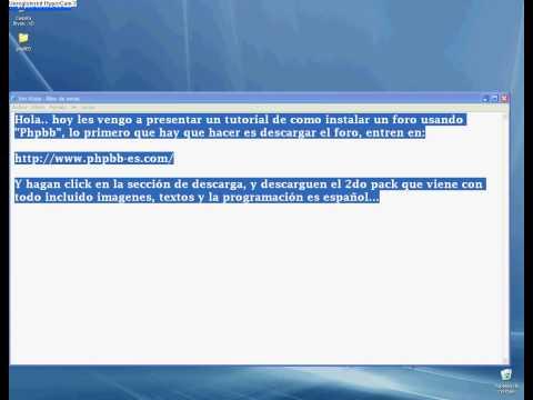 Como crear un foro con phpBB en 7 minutos