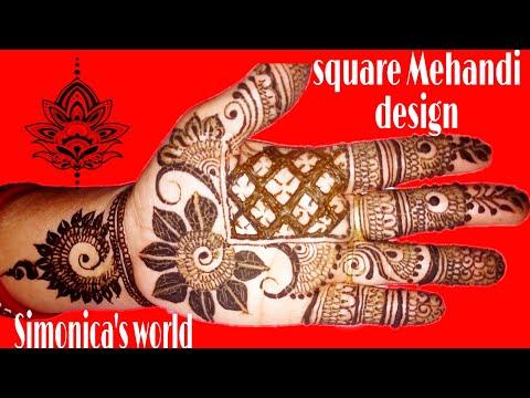 Amazing Simple Easy Square Mehandi Design For All Types Festivals & Functions || Mehandi Tutorial ||