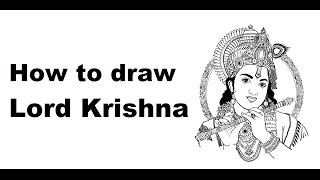 How to Draw Lord Krishna Face drawing step by step