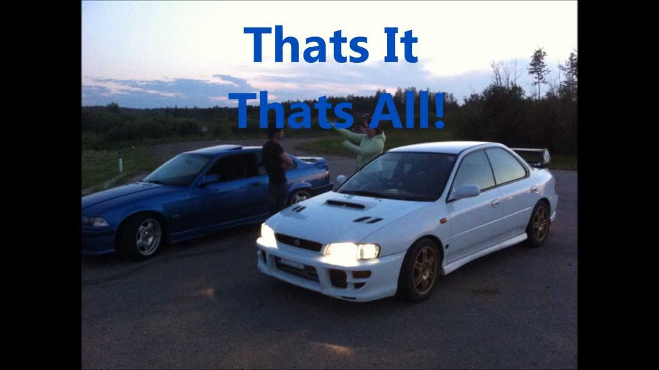 Bmw e36 m3 vs Subaru Sti  YouTube