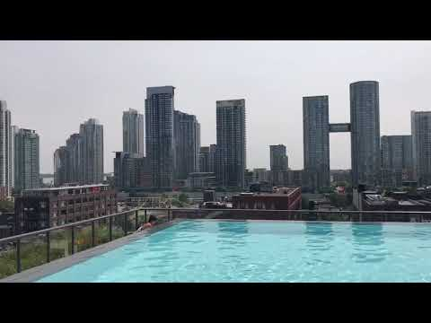 Cool downtown Toronto view with pool