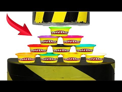 Experiment Hydraulic Press 100 ton VS PLAY DOH Satisfying | The Crusher