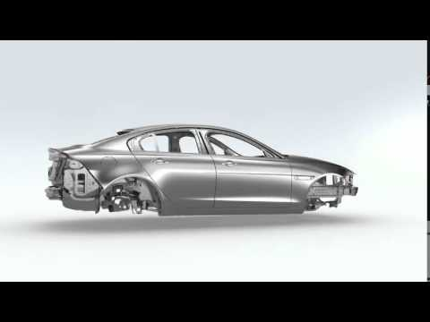 World Premiere of Jaguar XE at London's Earls Court - aluminium monocoque film