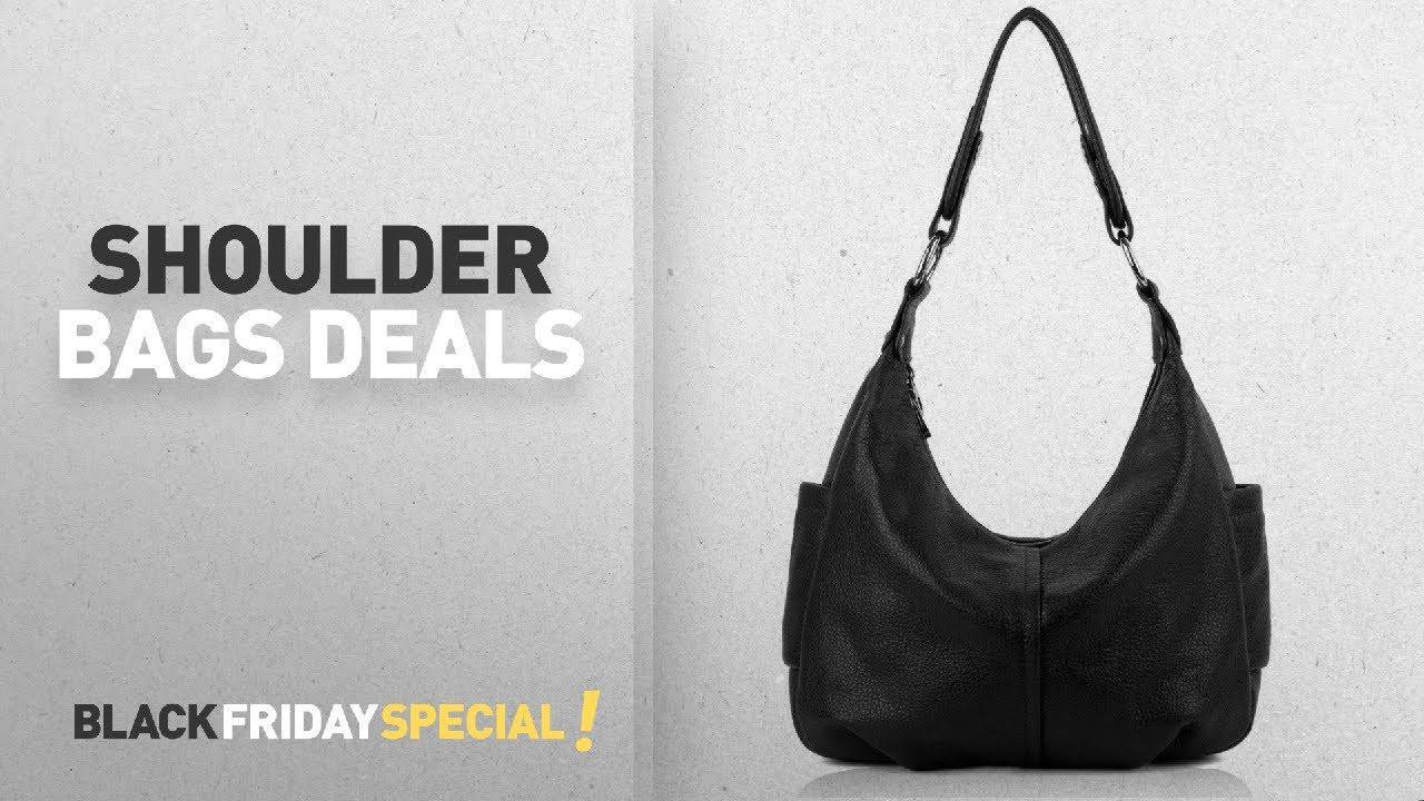 1b7fe9a65106 Top Black Friday Shoulder Bags  YALUXE Women s Double Zipper Soft ...