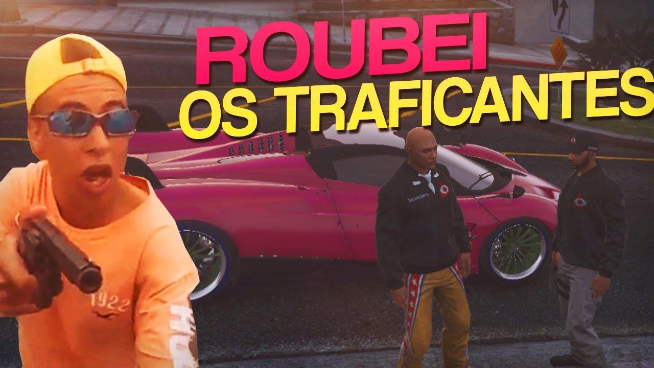 ROUBEI O CARRO DOS TRAFICANTES E ELES VIERAM ATRÁS | GTA RP