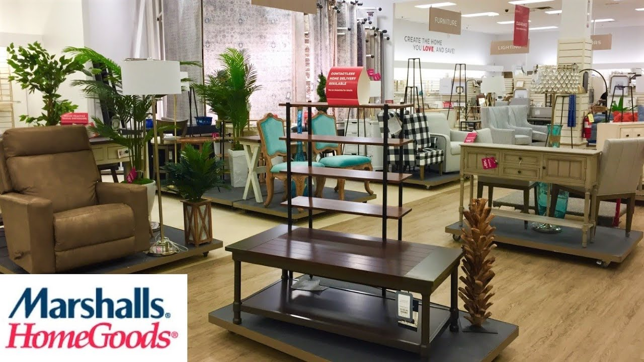 marshalls homegoods coffee tables armchairs sofas decor shop with me shopping store walk through