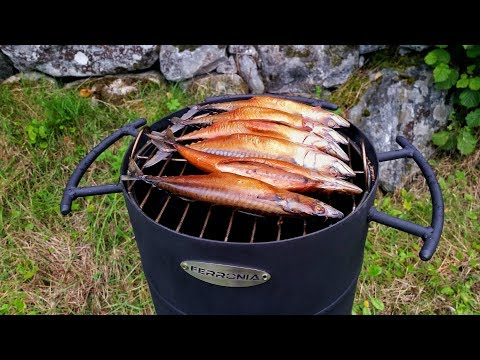 Kugelgrill Selber Bauen - Teil 3 - Makrelen Räuchern
