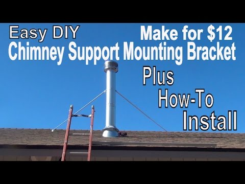Make Easy Chimney Support Mount for $12 + How To Install It*VERY EASY  EP 6 of 7