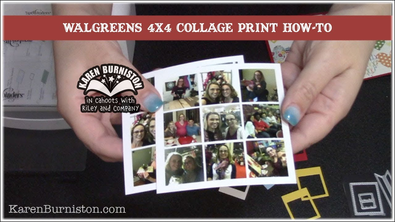 how to print a 4x4 collage photo at walgreens